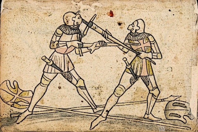 Two-Knights-Fighting-with-Bastard-Sword